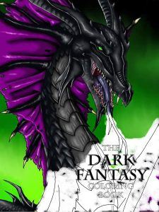 Dark Fantasy Coloring Book Cover